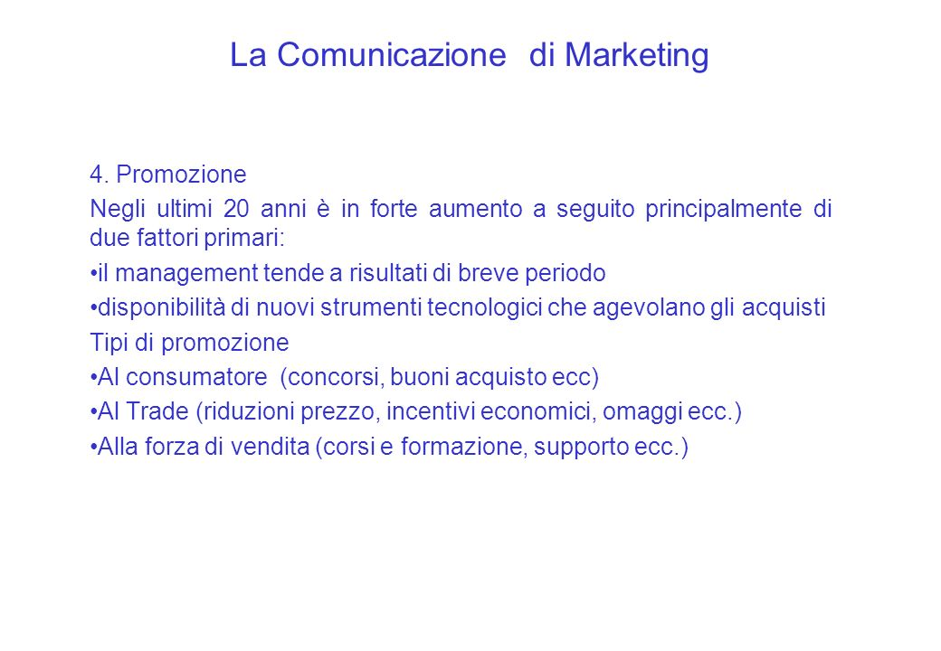 La Comunicazione di Marketing 4.