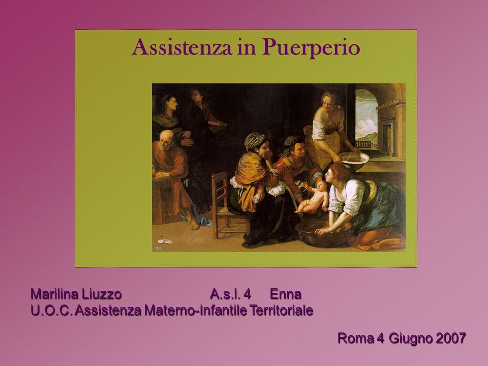 Assistenza in Puerperio Marilina Liuzzo A.s.l. 4 Enna U.O.C.