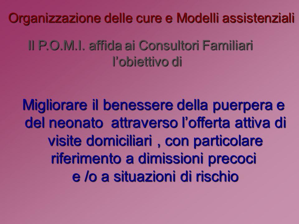 Organizzazione delle cure e Modelli assistenziali Il P.O.M.I.