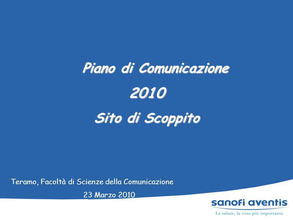 Piano di Comunicazione Piano di Comunicazione2010 Sito di Scoppito Teramo, Facoltà di Scienze della Comunicazione 23 Marzo 2010