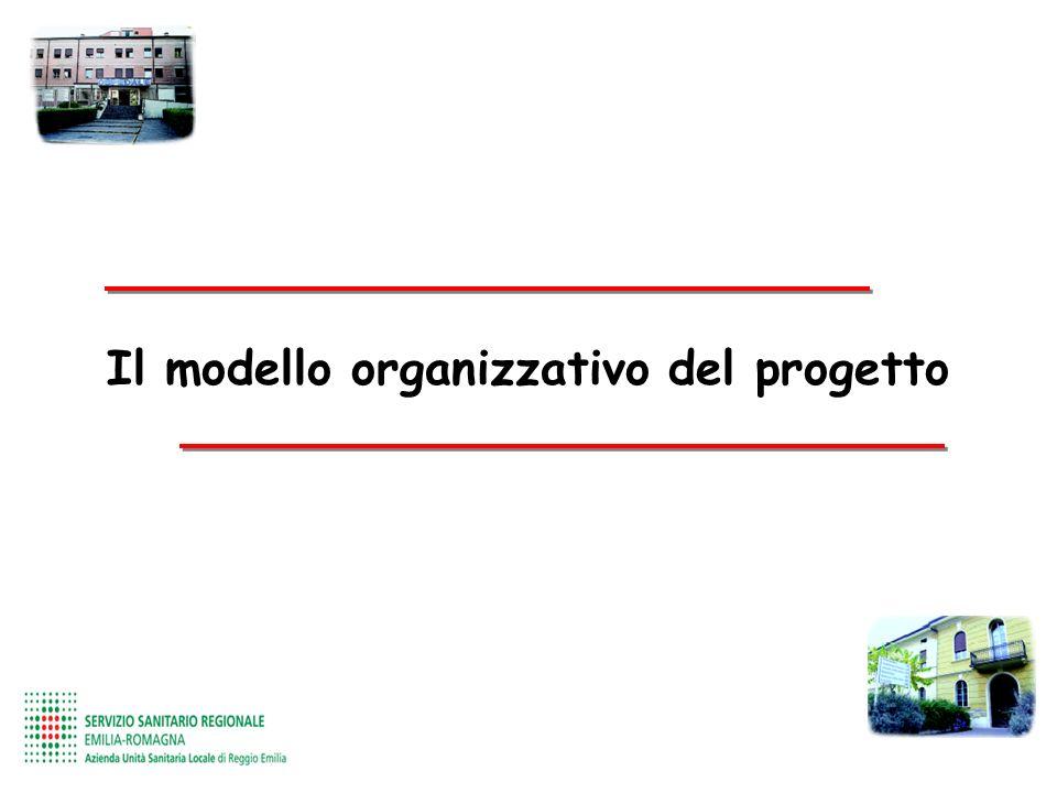 Il modello organizzativo del progetto