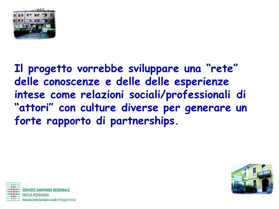 Il progetto vorrebbe sviluppare una rete delle conoscenze e delle delle esperienze intese come relazioni sociali/professionali di attori con culture d