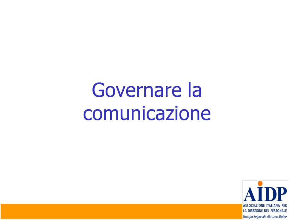 Governare la comunicazione