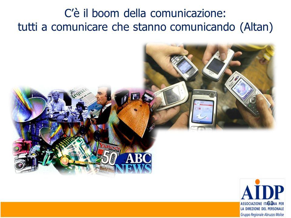 63 Cè il boom della comunicazione: tutti a comunicare che stanno comunicando (Altan)