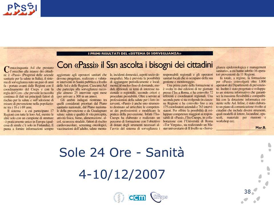 38 Sole 24 Ore - Sanità 4-10/12/2007