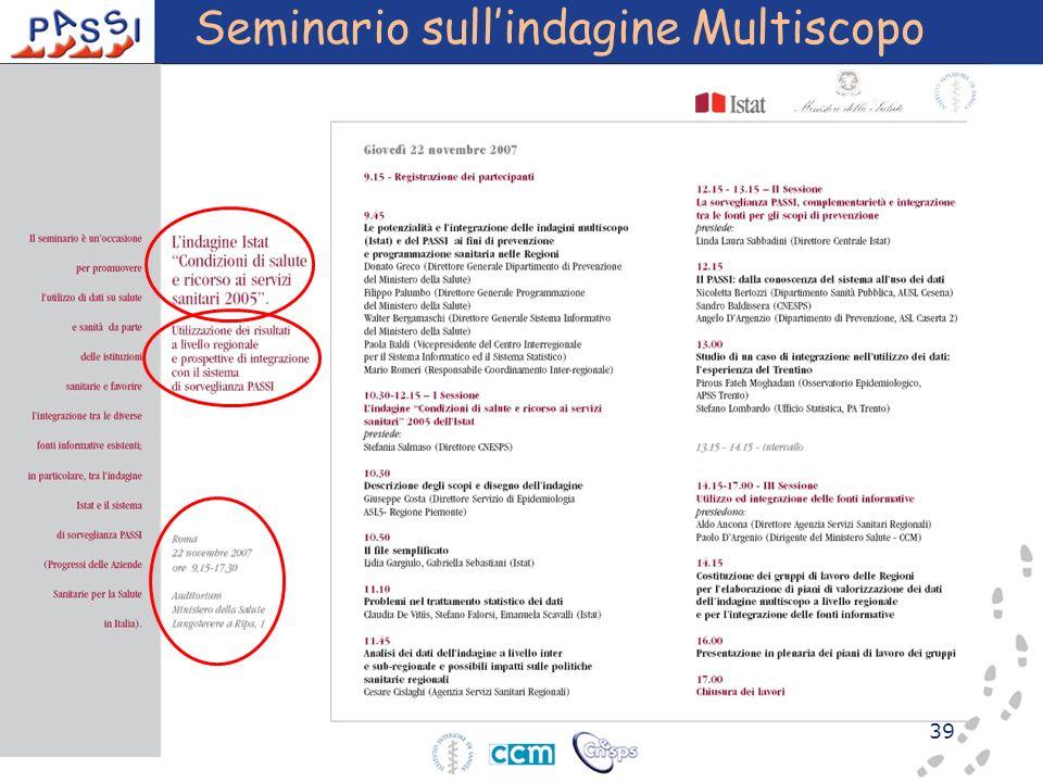 39 Seminario sullindagine Multiscopo