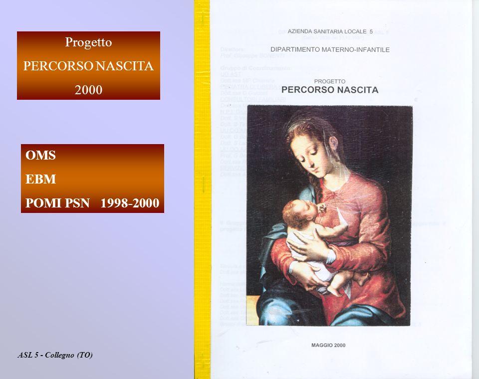 Progetto PERCORSO NASCITA 2000 ASL 5 - Collegno (TO) OMS EBM POMI PSN 1998-2000