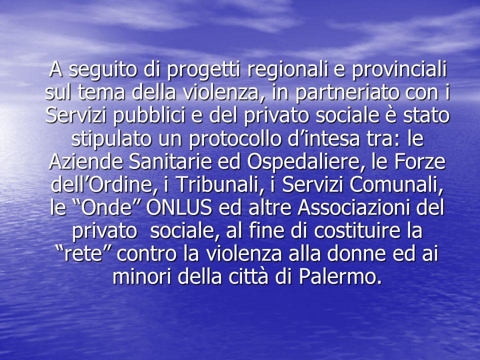 A seguito di progetti regionali e provinciali sul tema della violenza, in partneriato con i Servizi pubblici e del privato sociale è stato stipulato u
