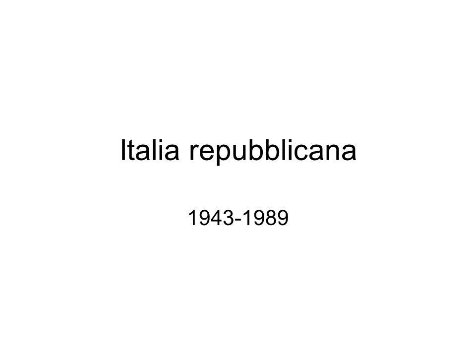 Italia repubblicana 1943-1989