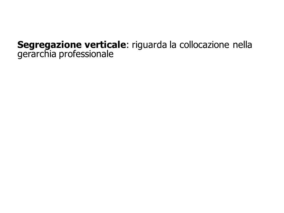 15 Segregazione verticale: riguarda la collocazione nella gerarchia professionale