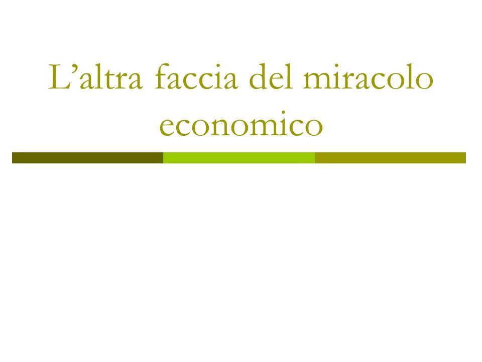 Laltra faccia del miracolo economico