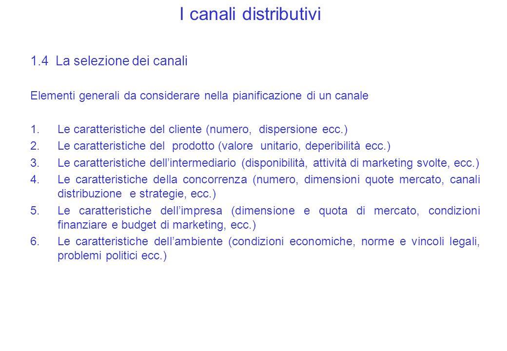 La gestione dei canali distributivi 2.I rapporti con gli intermediari 2.1 Il Trade marketing 2.2 I sistemi verticali di marketing 2.3 Commercio allingrosso 2.4 Store retailing 2.5 Nonstore retailing
