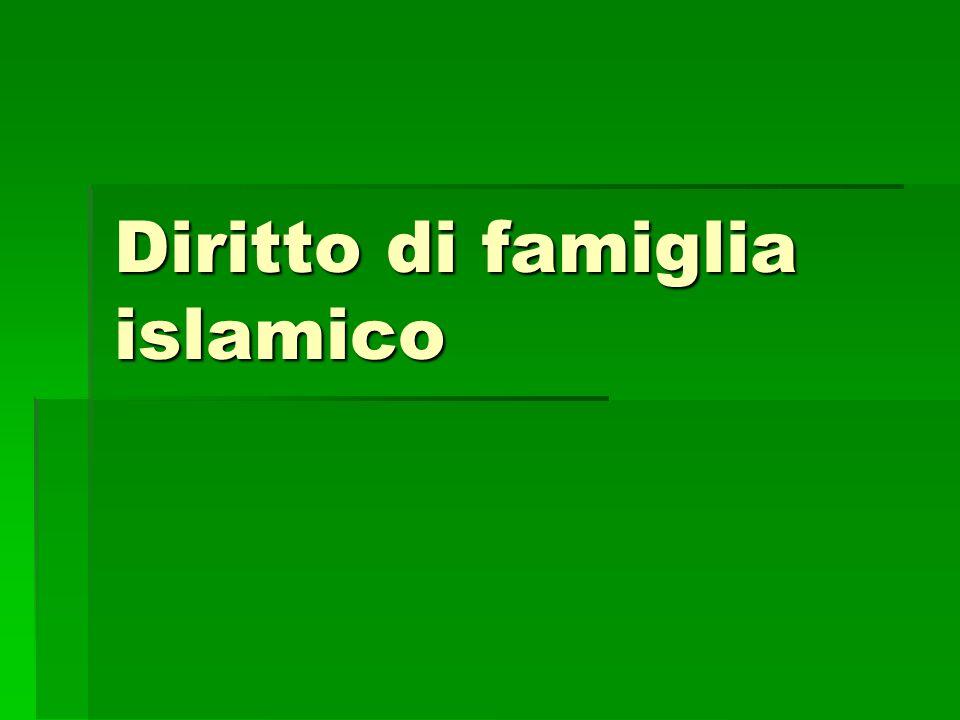 Diritto di famiglia islamico