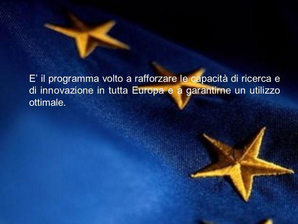E il programma volto a rafforzare le capacità di ricerca e di innovazione in tutta Europa e a garantirne un utilizzo ottimale.