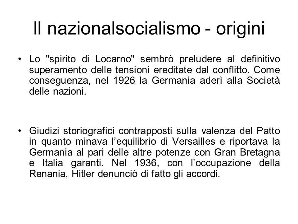 Il nazionalsocialismo - origini Lo