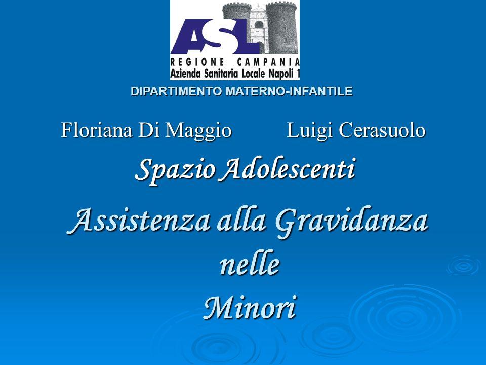 Assistenza alla Gravidanza nelle Minori Floriana Di Maggio Luigi Cerasuolo Spazio Adolescenti DIPARTIMENTO MATERNO-INFANTILE
