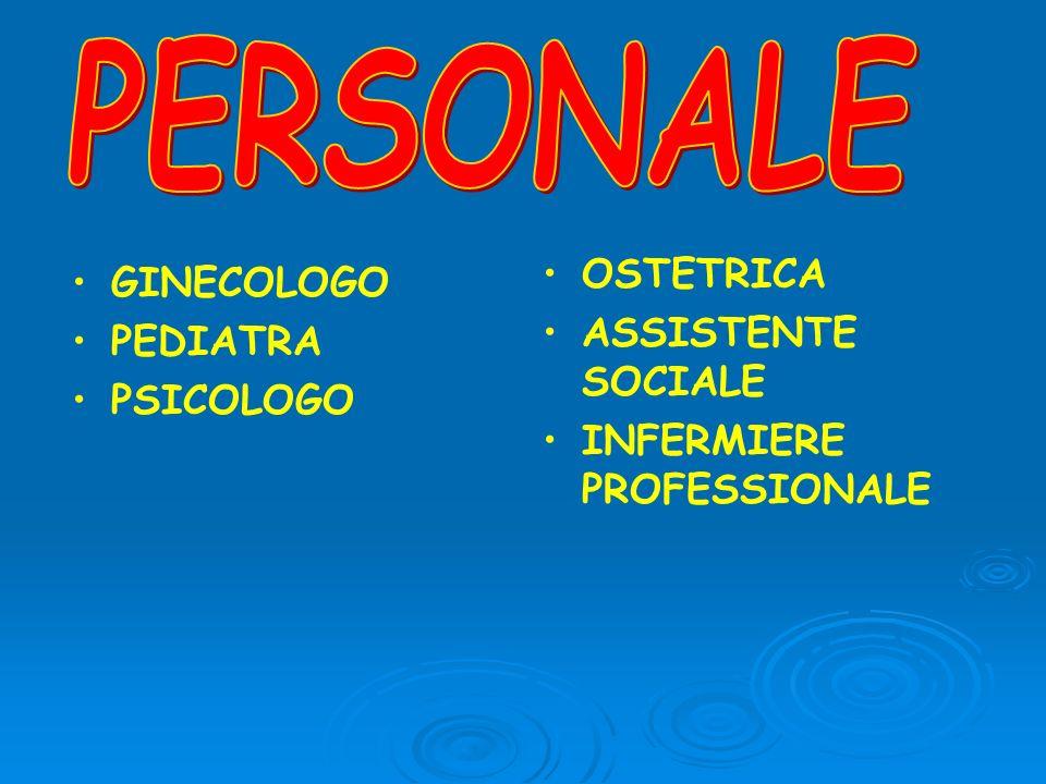 GINECOLOGO PEDIATRA PSICOLOGO OSTETRICA ASSISTENTE SOCIALE INFERMIERE PROFESSIONALE