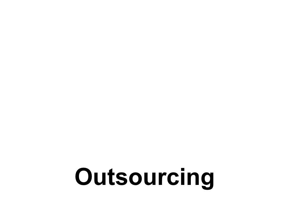 Definizione Il processo attraverso il quale le imprese assegnano stabilmente a fornitori esterni la gestione operativa di una o più funzioni produttive