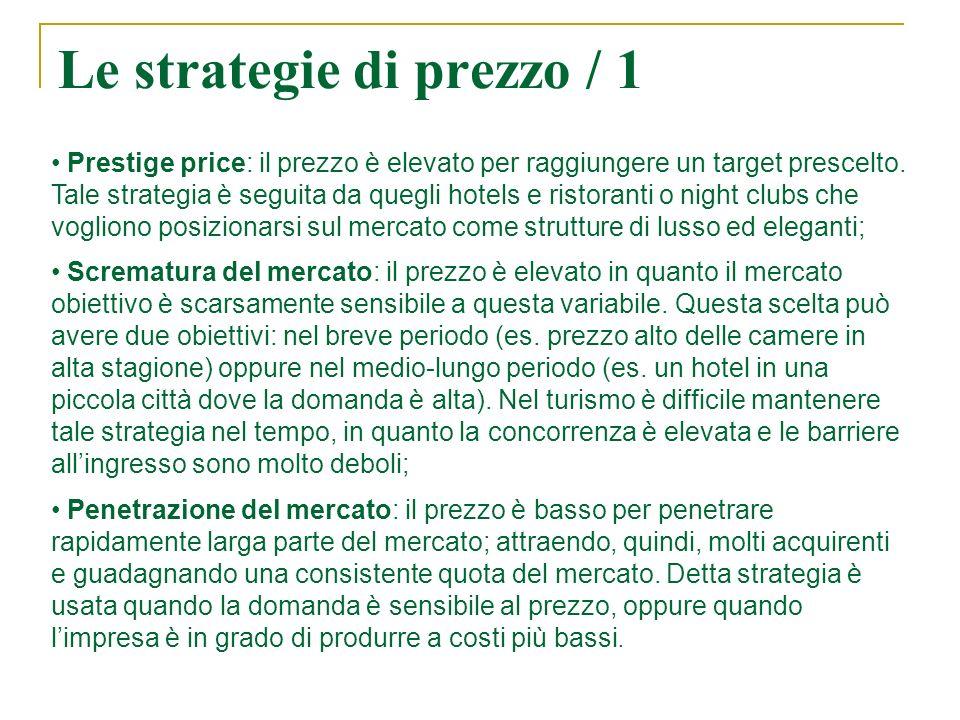 Le strategie di prezzo / 1 Prestige price: il prezzo è elevato per raggiungere un target prescelto.