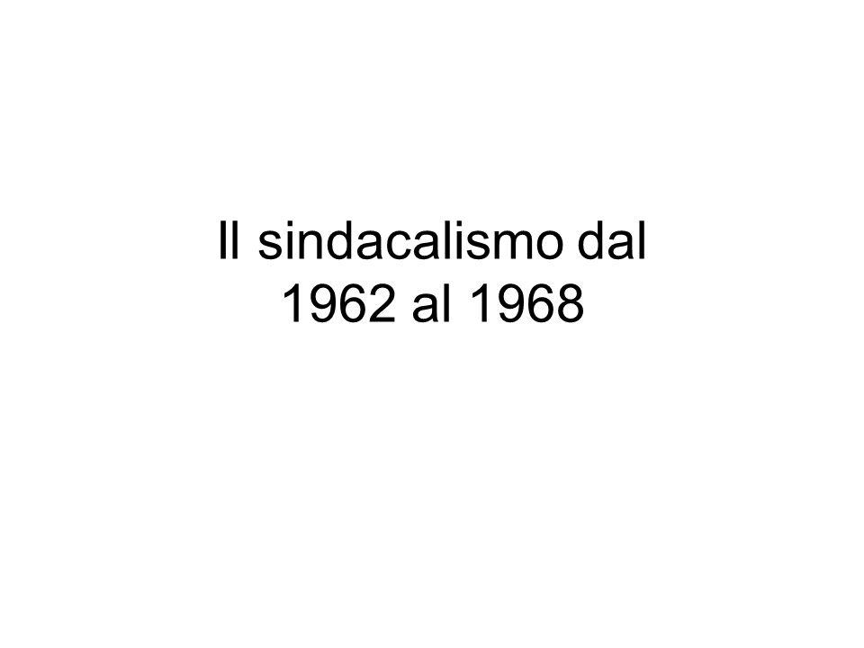 Il sindacalismo dal 1962 al 1968