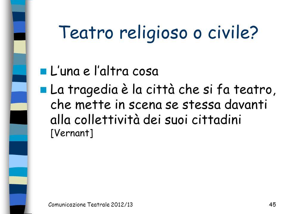 Comunicazione Teatrale 2012/1345 Teatro religioso o civile.