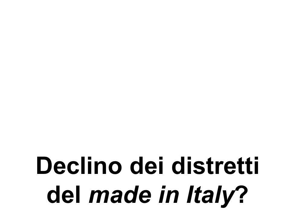 Declino dei distretti del made in Italy