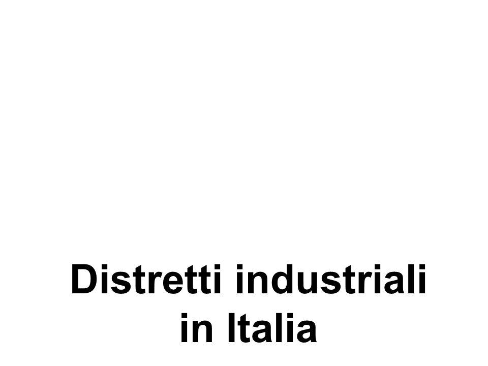 Distretti industriali in Italia