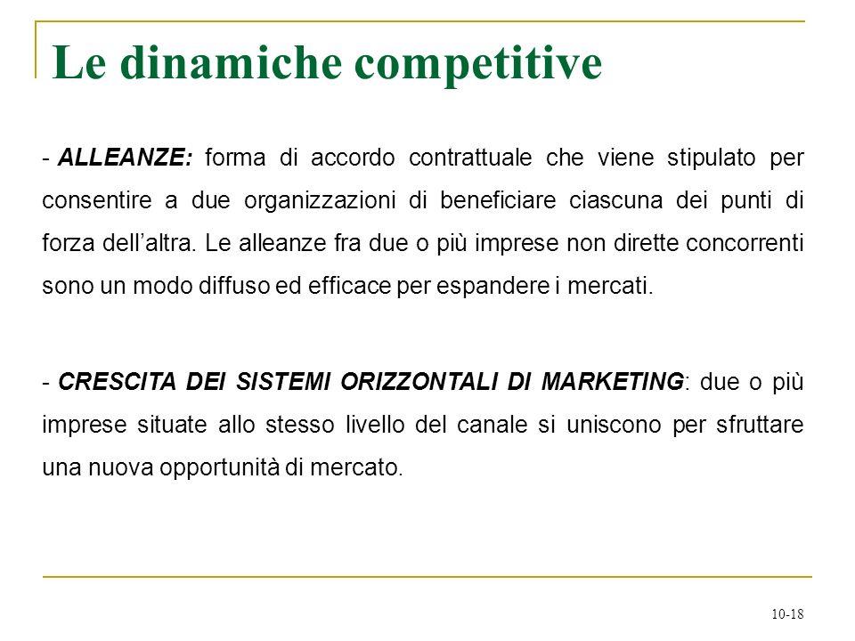 10-18 - ALLEANZE: forma di accordo contrattuale che viene stipulato per consentire a due organizzazioni di beneficiare ciascuna dei punti di forza del