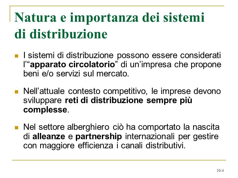 10-4 Natura e importanza dei sistemi di distribuzione I sistemi di distribuzione possono essere considerati lapparato circolatorio di unimpresa che pr