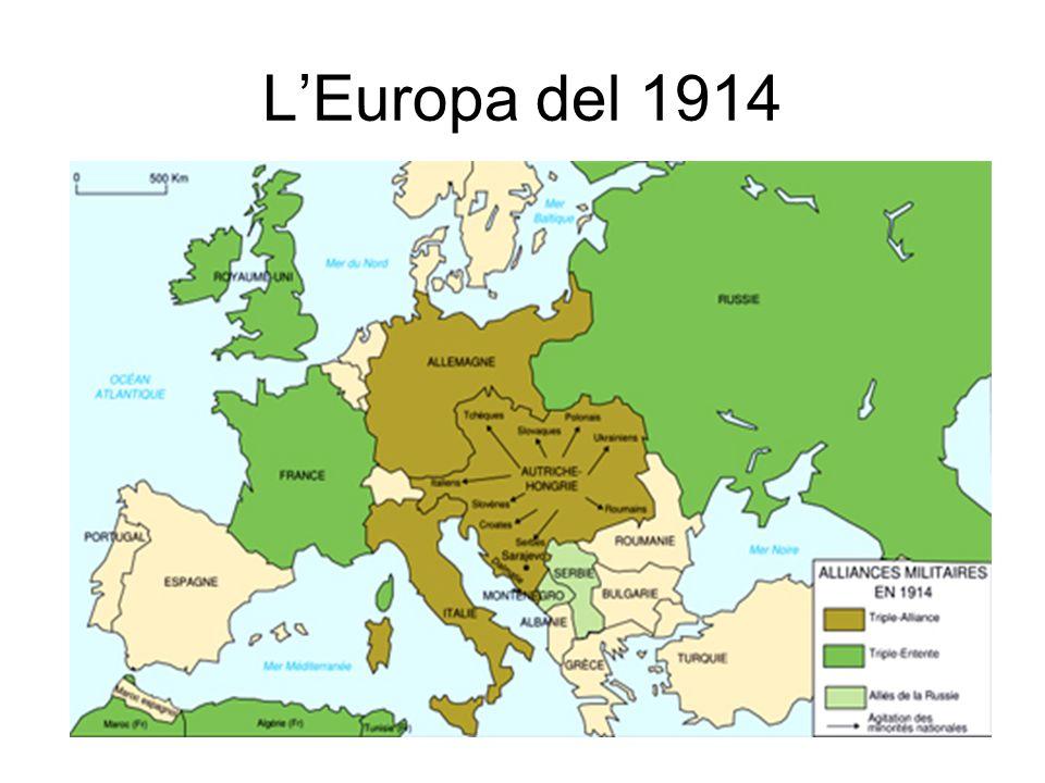 LEuropa allo scoppio del conflitto