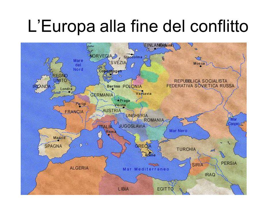 LEuropa alla fine del conflitto