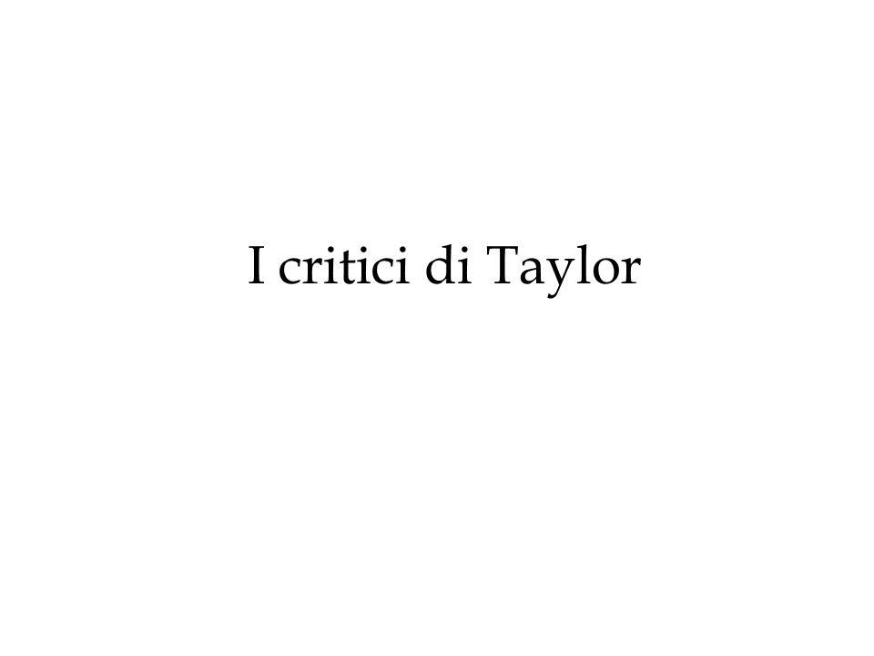 I critici di Taylor