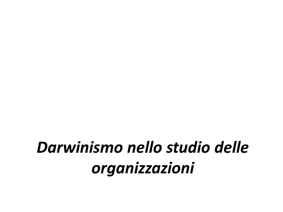 Darwinismo nello studio delle organizzazioni