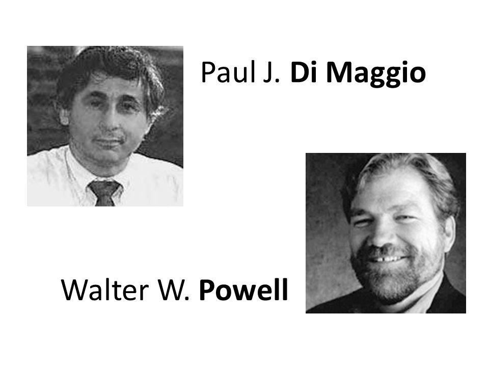 Paul J. Di Maggio Walter W. Powell