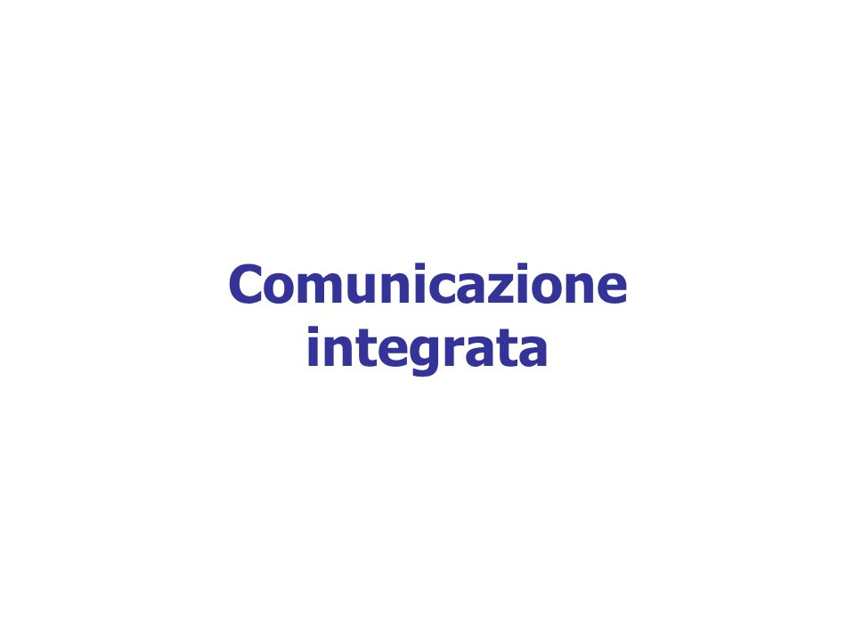 Comunicazione integrata