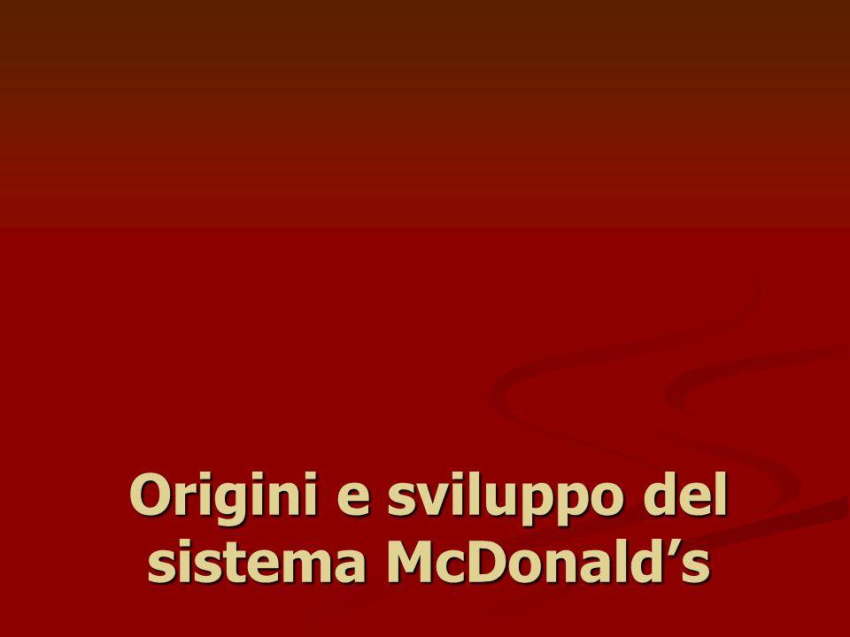 Origini e sviluppo del sistema McDonalds
