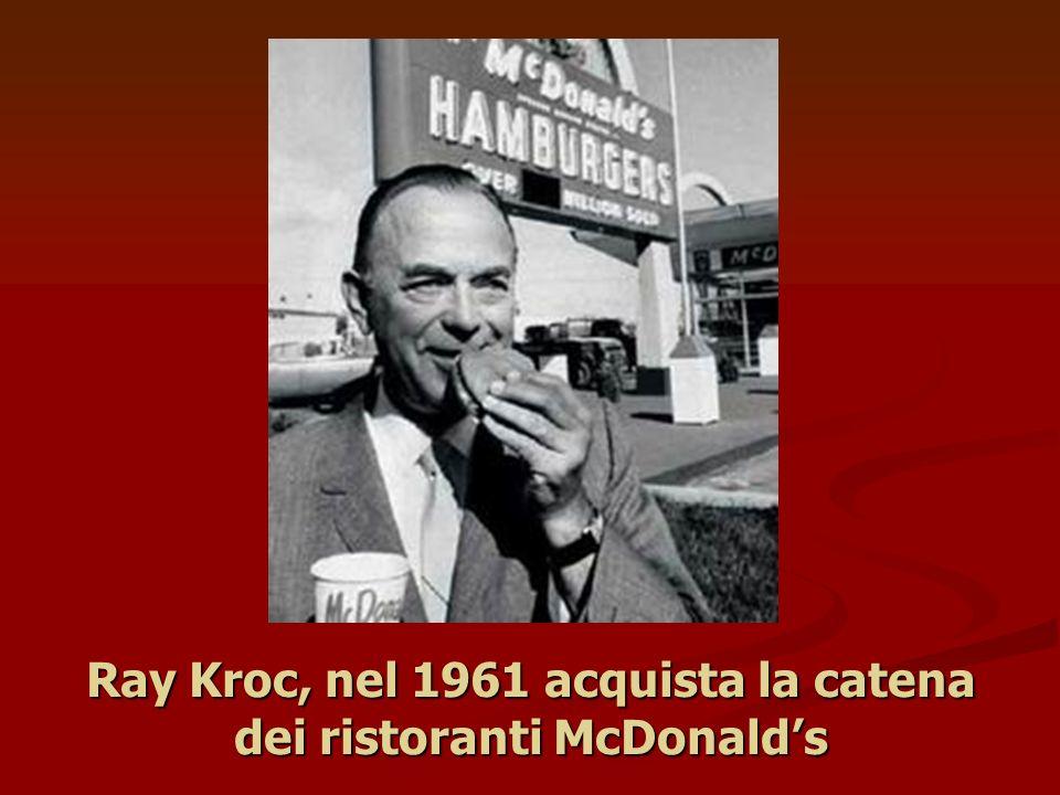 Ray Kroc, nel 1961 acquista la catena dei ristoranti McDonalds