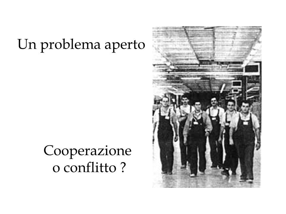 Un problema aperto Cooperazione o conflitto ?