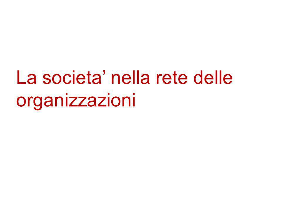 La societa nella rete delle organizzazioni