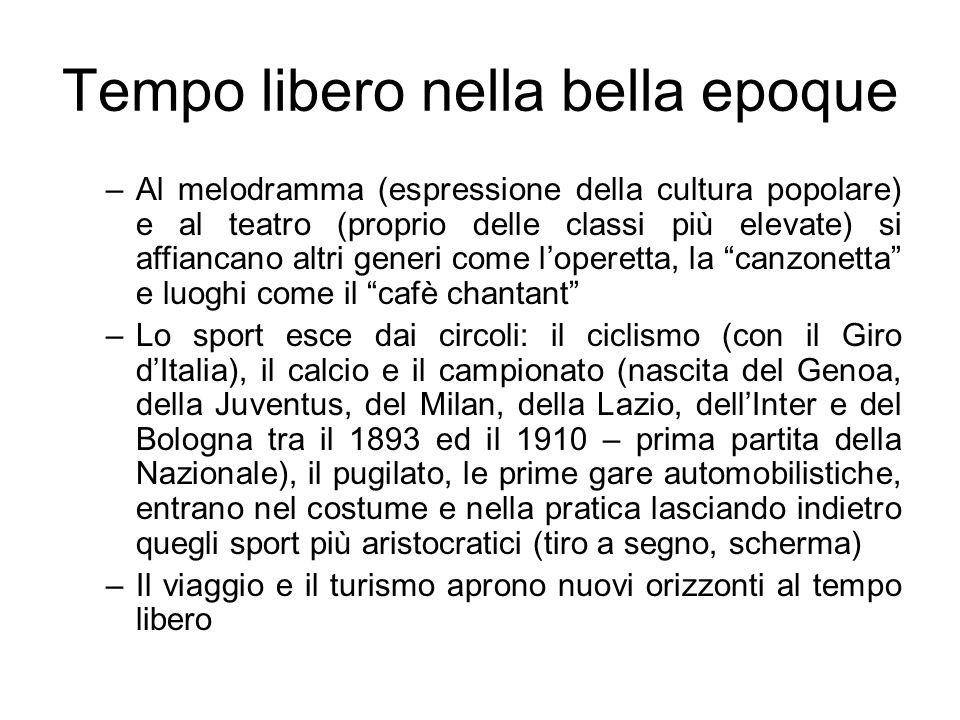 Lo Sport in Italia Diverse le motivazioni che ci portano alla scherma; in questo caso è preponderante lappartenenza al classico addestramento militare Con lunificazione nazionale le scuole di scherma cominciano ad apparire anche in ambito civile (7 in Italia) Nasce e rimarrà a lungo – in buona parte anche oggi – uno sport di elites cui si devono, peraltro, decine di medaglie olimpiche (nel 1964 erano 65 contro le 37 del ciclismo) E evidente come in tutti questi tre casi (cui possiamo aggiungere gli sport alpini, il pugilato e inizialmente anche il calcio), risultava quasi esclusiva lestrazione elitaria ed alto borghese dellattività fisica e delle sue organizzazioni