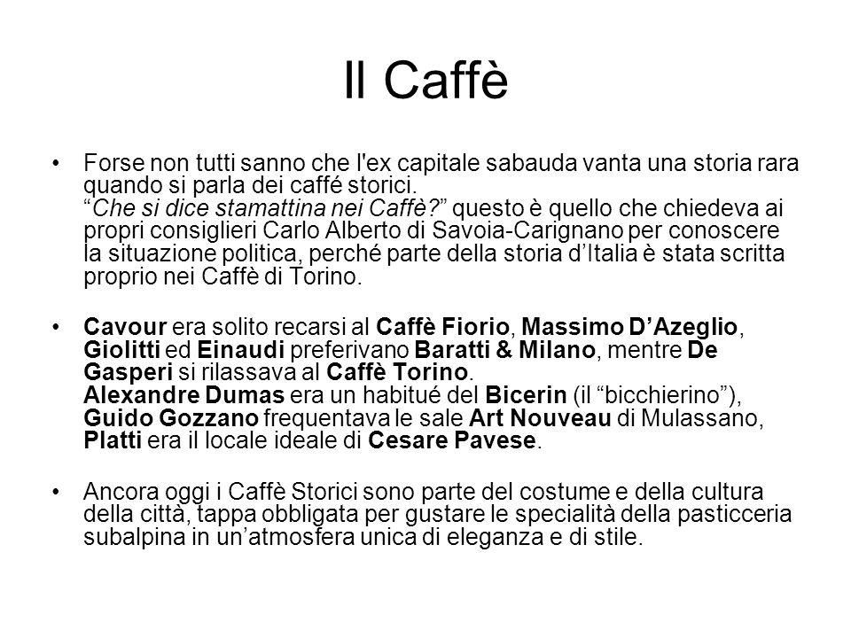 Il Caffè Forse non tutti sanno che l'ex capitale sabauda vanta una storia rara quando si parla dei caffé storici.Che si dice stamattina nei Caffè? que