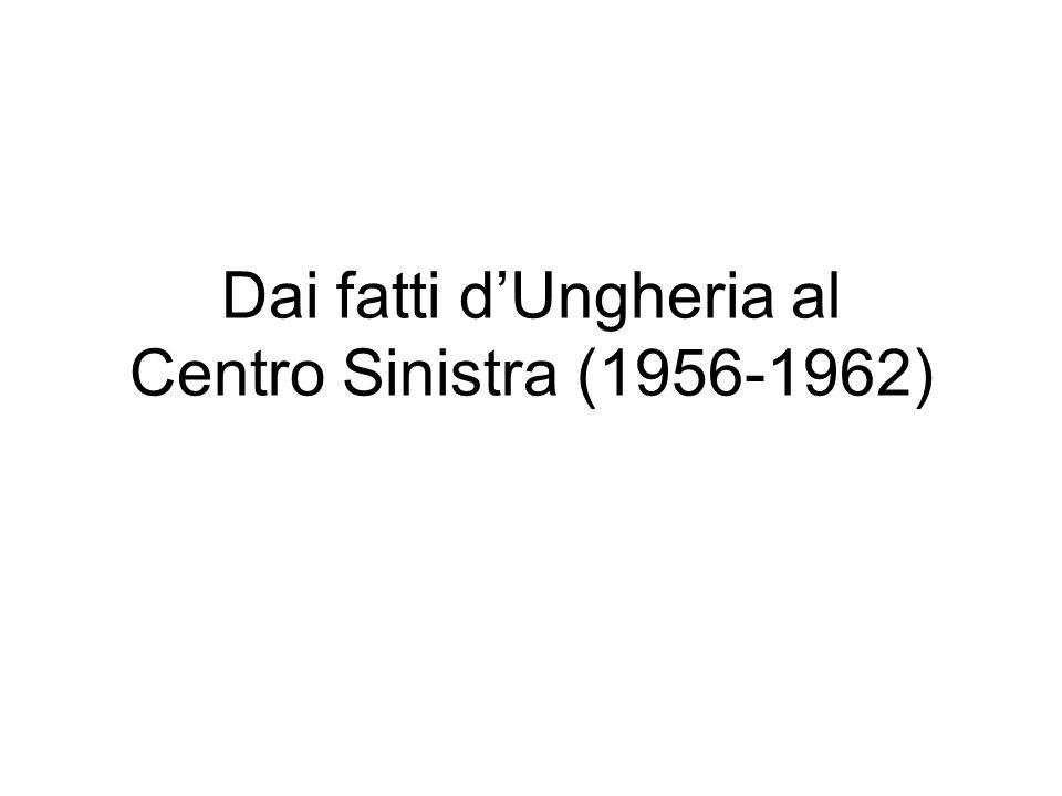 Dai fatti dUngheria al Centro Sinistra (1956-1962)