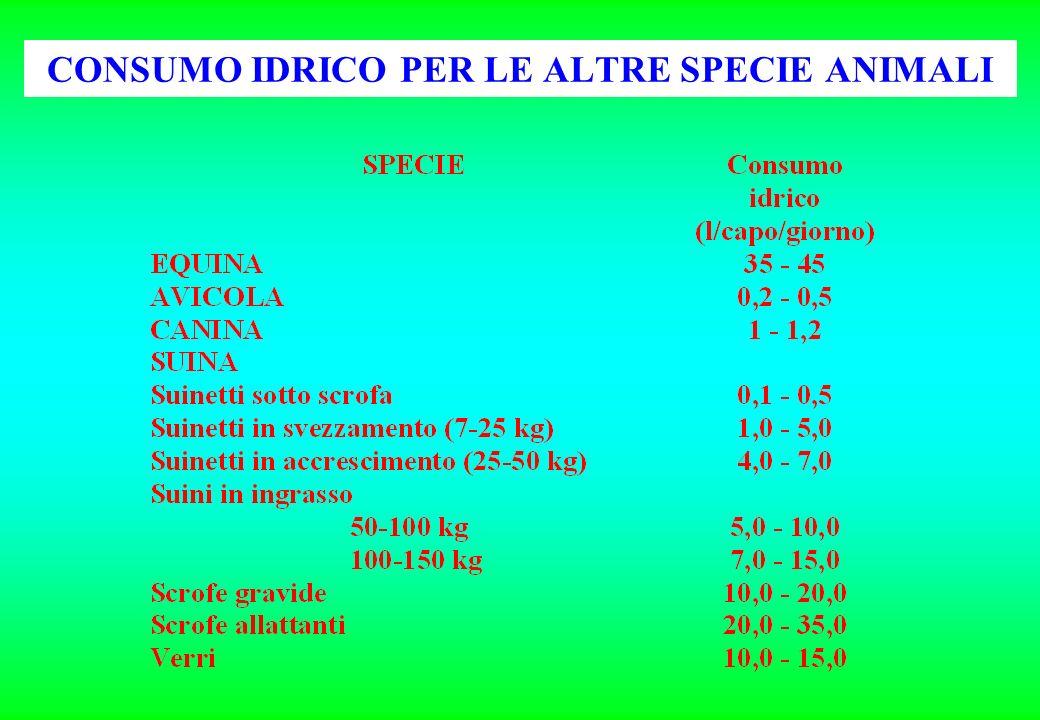 INFLUENZA DELLA COMPOSIZIONE DELLA RAZIONE SULLE QUANTITA GIORNALIERE DI ACQUA DI BEVANDA INGERITE DA BOVINE DA LATTE (kg H 2 O/kg s.s.