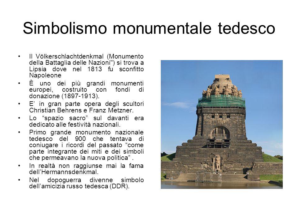 Simbolismo monumentale tedesco Il Völkerschlachtdenkmal (Monumento della Battaglia delle Nazioni