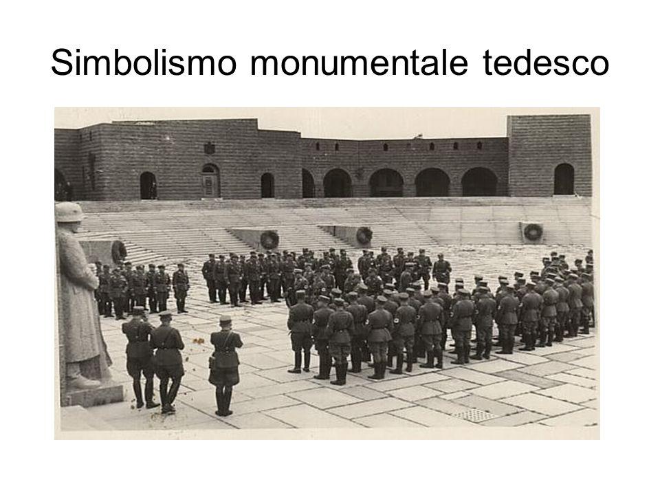 Lutilizzazione degli spazi a Tannenberg, corrisponde a quello che i nazisti realizzarono nelle riunioni del partito a Norimberga; Questa passaggio segna per il nazismo levoluzione del simbolismo dello spazio sacro che raggiungerà il suo culmine quando lo spazio delle cerimonie sostituì il monumento stesso come a Norimberga Quindi se i monumenti nazionali costituirono una parte della liturgia delle feste pubbliche, adottata e sviluppata dai nazisti; levoluzione dei cerimoniali stessi ebbe a sua volta un ruolo chiave nellautorappresentazione e nel culto della nazione.