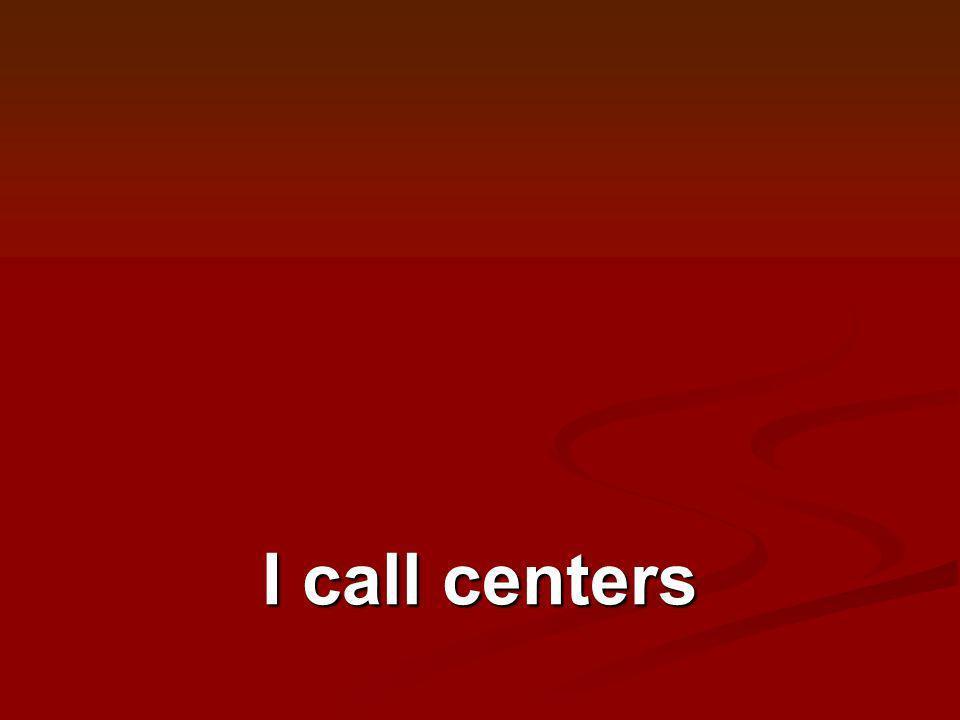 I call centers