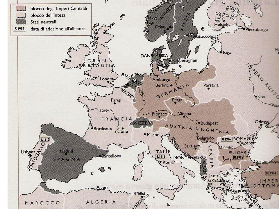 LA PRIMA GUERRA MONDIALE Le due caratteristiche principali di questo conflitto sono (Isnenghi): MONDIALE: coinvolse per la prima volta una potenza extraeuropea St.