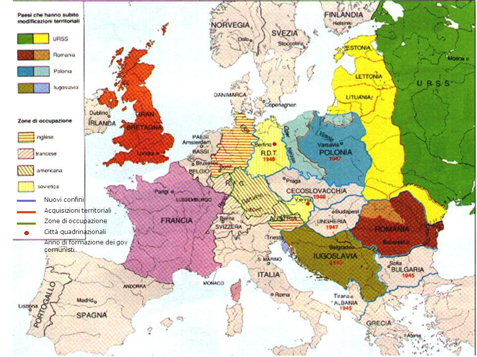 URSS Stalin Sicurezza totale: –Fondata su dominio territoriale: –Potenza militare Concezione fortezza di Stalin Concezione ideologica leninista