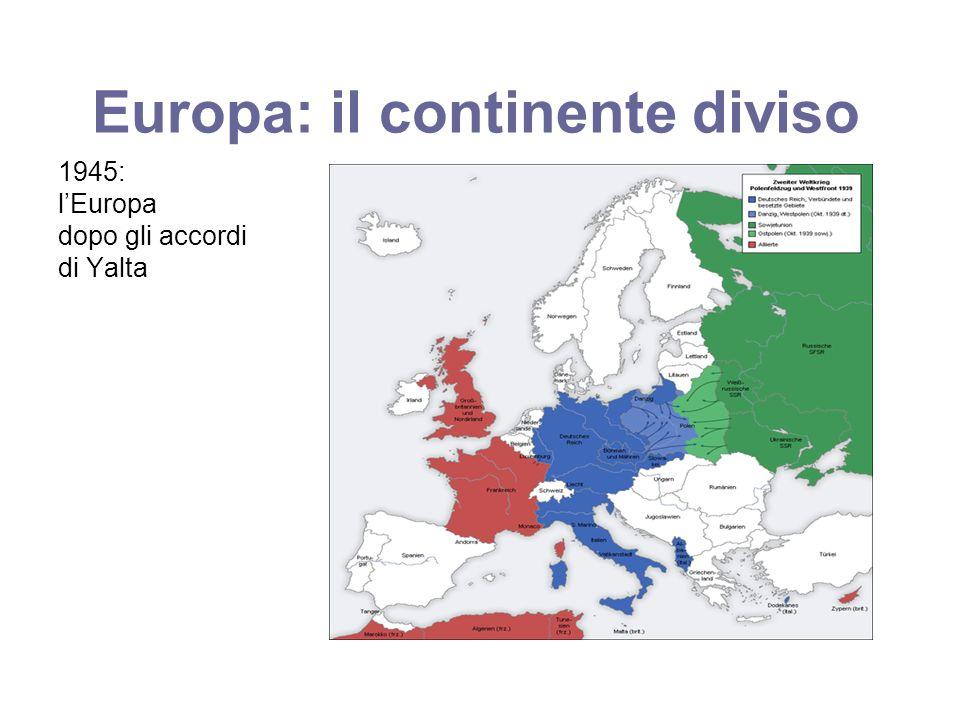 Europa: il continente diviso 1945: lEuropa dopo gli accordi di Yalta