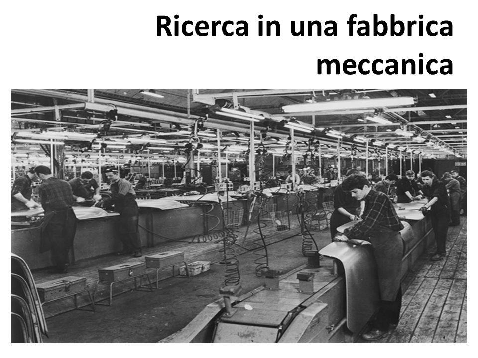 Ricerca in una fabbrica meccanica